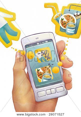 illustration of smart mobile phone