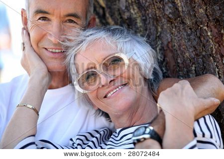 Elderly couple enjoying each other's company