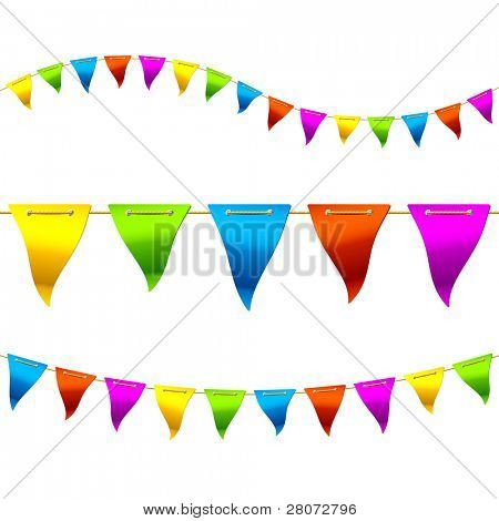 Bunting flags. Vector.