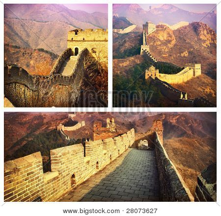 Great Wall Collage.China