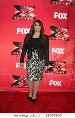 "LOS ANGELES - DEC 19:  Melanie Amaro at the FOX's ""The X Factor"" Press Conference  at CBS Studios on December 19, 2011 in Los Angeles, CA"