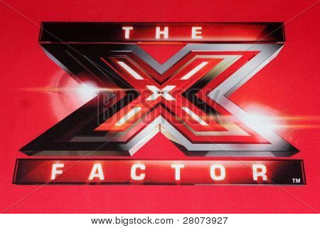 "LOS ANGELES - DEC 19:  X Factor Logo at the FOX's ""The X Factor"" Press Conference  at CBS Studios on December 19, 2011 in Los Angeles, CA"