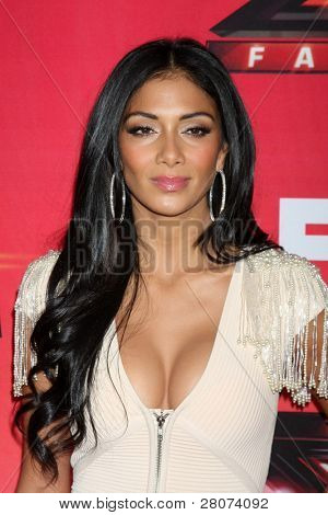 "LOS ANGELES - DEC 19:  Nicole Scherzinger at the FOX's ""The X Factor"" Press Conference  at CBS Studios on December 19, 2011 in Los Angeles, CA"