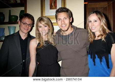 LOS ANGELES - DEC 17:  Kim Matula, Scott Clifton, guests at the 2011 Tom / Achor Annual Christmas Party at Private Home on December 17, 2011 in Glendale, CA