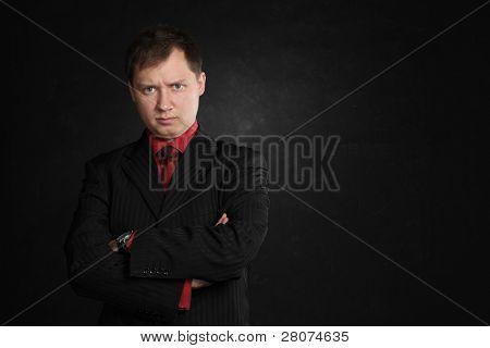 discontent man