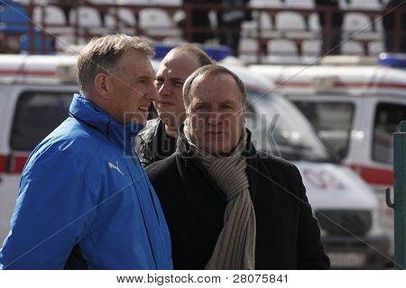 TOMSK, RUSSIA - APRIL 5: Dirk Nicolaas