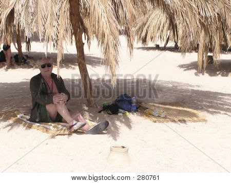 Senior Man On The Beach