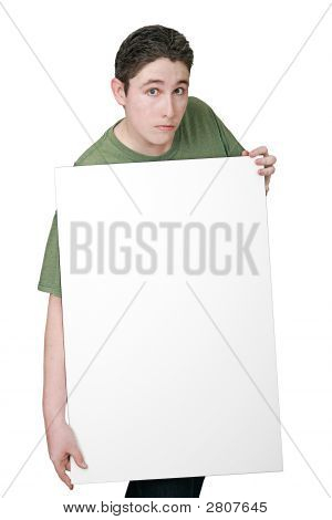 Guy Holding Sign
