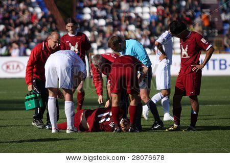 TOMSK, RUSSIA - SEPTEMBER 20: Football match Championship of Russia among Tom'(Tomsk) - Rubin (Kazan), September 20, 2009 in Tomsk, Russia.