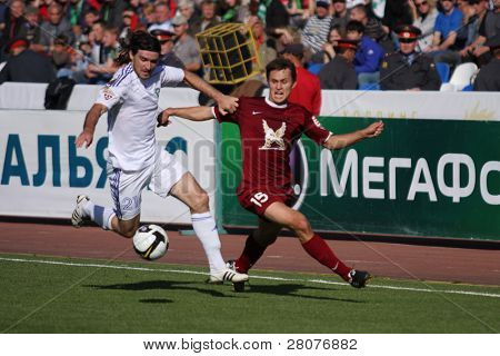 TOMSK, RUSSIA - SEPTEMBER 20: Football match Championship of Russia among Tom'(Tomsk) - Rubin (Kazan), September 20, 2009 in Tomsk, Russia.