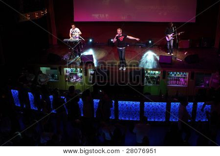 TOMSK, RUSSIA - JUNE 6: Disco group