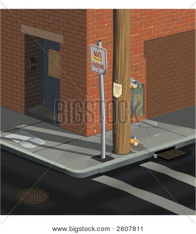 Urban Street Corner