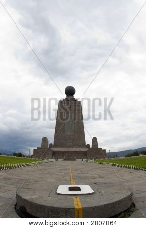 West Equator Line Mitad Del Mundo Middle Of The World Quito Ecuador