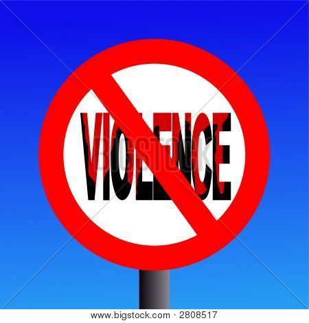 Violence Prohibited Sign