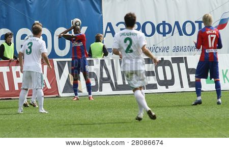 MOSCOW - MAY 10: Match the 10th round of the Russian Football Premier League between CSKA (Moscow) and FC Terek (Grozny) - (4:1), May 10, 2010 in Moscow, Russia.