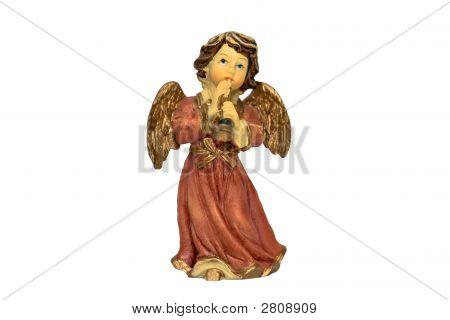 Christmas Angel Figure Playing Horn