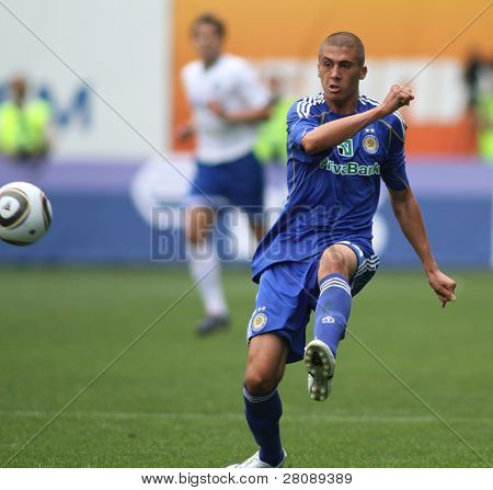 MOSCOW - JULY 3: Dynamo Kyiv's defender Evgeniy Hacheridi in the VTB Lev Yashin Cup: FC Dynamo Moscow vs. FC Dynamo Kyiv (2:0), July 3, 2010 in Moscow, Russia.