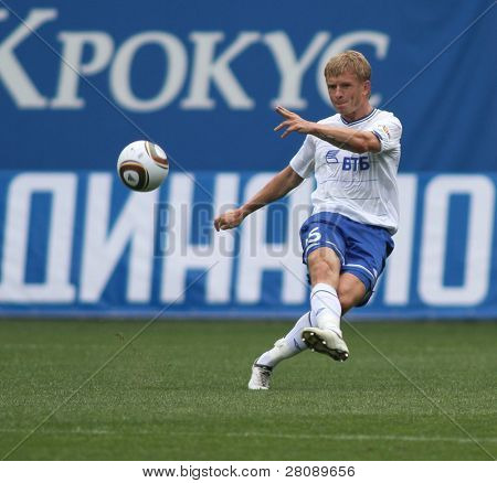 MOSCOW - JULY 3: Dynamo Moscow's defender Denis Kolodin in the VTB Lev Yashin Cup: FC Dynamo Moscow vs. FC Dynamo Kyiv (2:0), July 3, 2010 in Moscow, Russia.