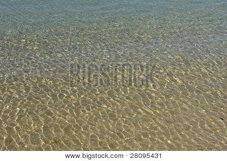 farbige Meer Wasser Detail am Strand