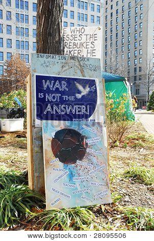 Zeichen zu besetzen Louisville protest
