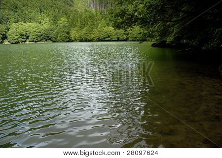 the hiden lake of Congro in azores island of Sao Miguel, Portugal