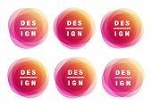Creative Vector Illustration Of Colorful Round Abstract Banners. Graphic Banners Concept Vector Desi poster
