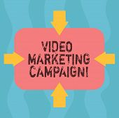 Conceptual Hand Writing Showing Video Marketing Campaign. Business Photo Showcasing Assessing The Be poster