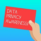 Handwriting Text Data Privacy Awareness. Concept Meaning Respecting Privacy And Protect What We Shar poster