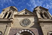 SANTA FE, NEW MEXICO - NOV 6:  Historic Saint Francis of Assisi Cathedral.  In 2005, the Cathedral w