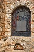 foto of gethsemane  - A fragment of church of all people in Gethsemane Garden in Jerusalem - JPG