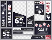 Web Banners Ad. Different Sizes And Shapes Of Advertizing Business Banners Collection Vector Templat poster