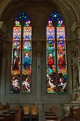 stock photo of stained glass  -  Bright multi - JPG