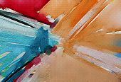 Abstract Colorful Oil, Acrylic Paint On Canvas Texture. Hand Drawn Brush Stroke, Oil Color Paintings poster