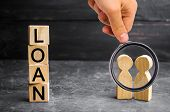 The Concept Of loan. Businessmen Are Discussing Questions About The Companys Loans. The Financial poster