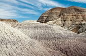 foto of paleozoic  - blue mesa hills - JPG