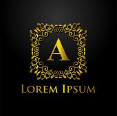 Luxury Logo, Letter A Logo, Classic And Elegant Logo Designs For Industry And Business, Interior Log poster