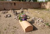 image of 1700s  - Tumacacori National Historical Park spanish mission ruins and graves - JPG