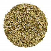 Dried Herbes De Provence, Herb Circle From Above, Isolated, Over White. Disc, Made Of Herbs Of The P poster
