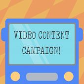 Text Sign Showing Video Content Campaign. Conceptual Photo Integrates Engaging Video Into Marketing  poster