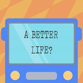 Text Sign Showing A Better Lifequestion. Conceptual Photo Wants To Improve The Current Quality Of Li poster