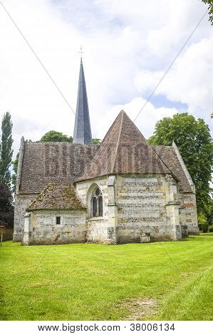 Ancient Church In Normandy