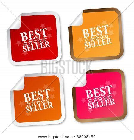 Pegatinas de mejores vendedor