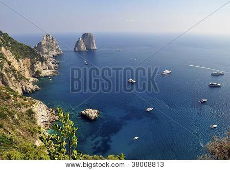Faraglioni Rocks, Capri, Italy
