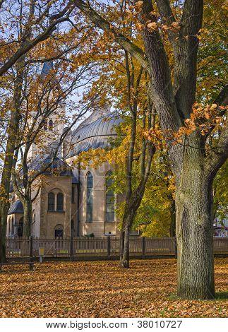 Colorful autumnal park, Dubulti, Latvia, Riga