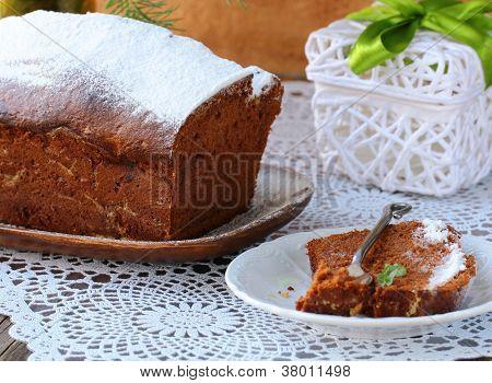 chocolate home made cake  for Christmas