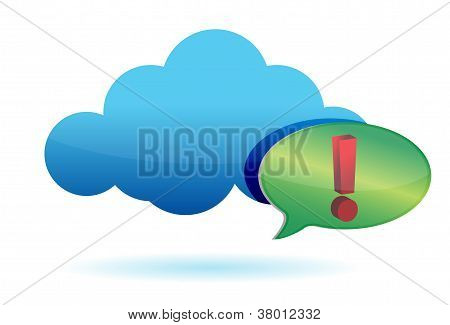 Cloud And Exclamation Sign Illustration