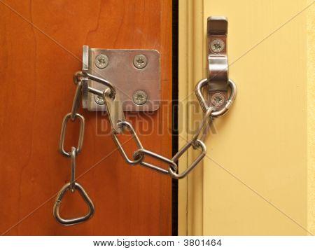 Security Chain On A Door