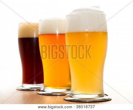 Diferentes tipos de cerveja