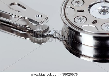 Close Up Of Open Hard Disk