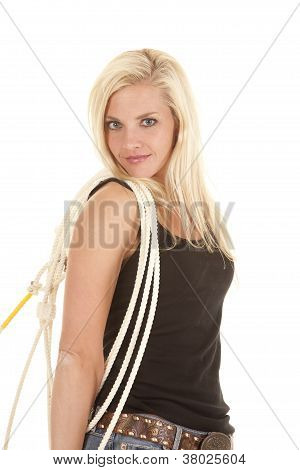 Cowgirl Rope On Shoulder Smile